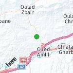Map for location: Ghiata Al Gharbia, Morocco